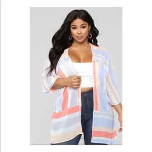 MAKE OFFER EUC FASHION NOVA SPRING FLING KIMONO S